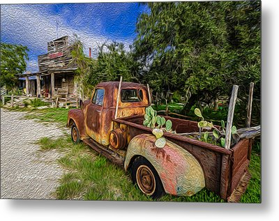 Delivery At The Stocktank Metal Print by Jeffrey W Spencer