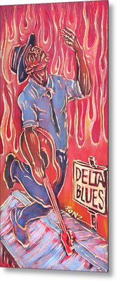 Delta Blues Metal Print by Robert Ponzio