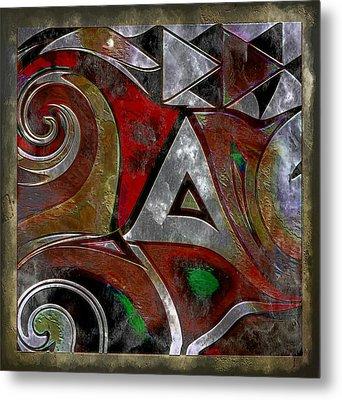 Delta Inspired Abstract Metal Print by Lynda Payton