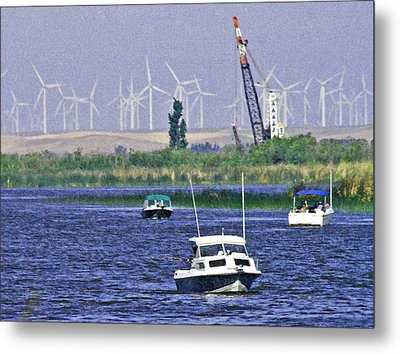 Delta Loop Fishing Metal Print by Joseph Coulombe