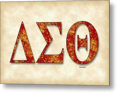 Delta Sigma Theta - Parchment Metal Print by Stephen Younts