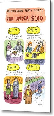 Democratic Party Access For Under $100 Metal Print by Roz Chast