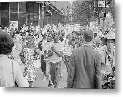 Demonstrators In The Poor Peoples March Metal Print by Stocktrek Images