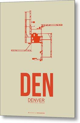 Den Denver Airport Poster 2 Metal Print