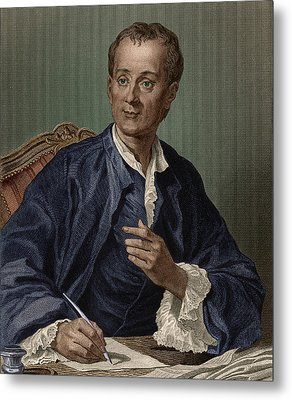 Denis Diderot, French Encyclopedist Metal Print by Science Source