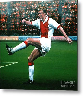 Dennis Bergkamp Ajax Metal Print by Paul Meijering