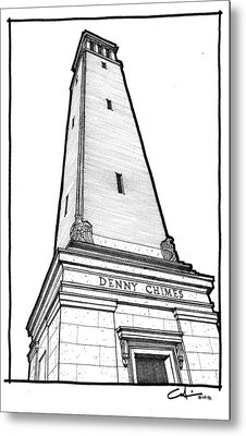 Metal Print featuring the drawing Denny Chimes by Calvin Durham