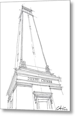 Metal Print featuring the drawing Denny Chimes Sketch by Calvin Durham