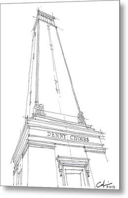 Denny Chimes Sketch Metal Print