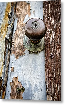 Dented Doorknob Metal Print by Caitlyn  Grasso