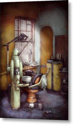 Dentist - Dental Office Circa 1940's Metal Print by Mike Savad