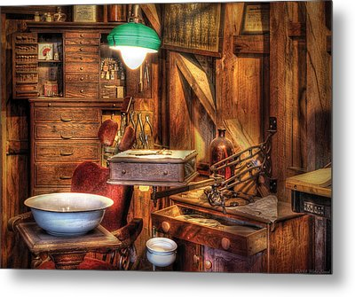 Dentist - In The Dentist's Office Metal Print by Mike Savad