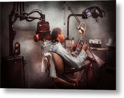 Dentist - Waiting For The Dentist Metal Print by Mike Savad