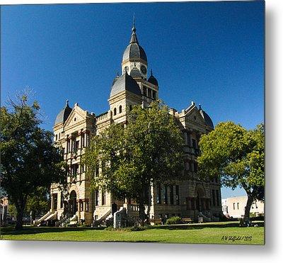 Denton County Courthouse Metal Print