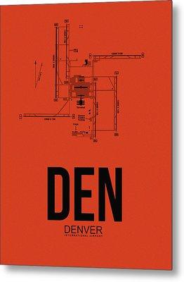 Denver Airport Poster 2 Metal Print