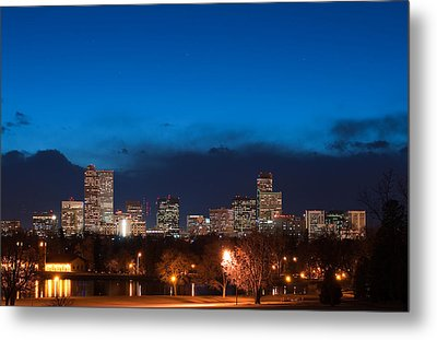 Denver At Twilight  Metal Print
