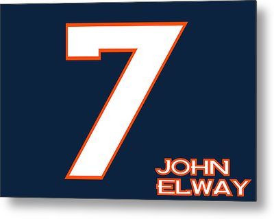 Denver Broncos John Elway Metal Print by Joe Hamilton
