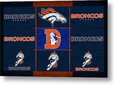 Denver Broncos Uniform Patches Metal Print