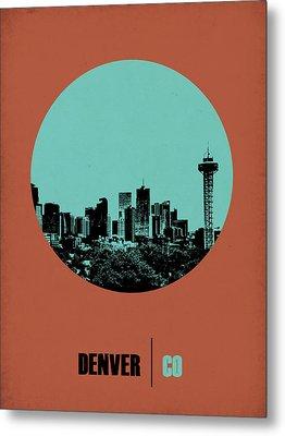 Denver Circle Poster 1 Metal Print by Naxart Studio