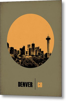 Denver Circle Poster 2 Metal Print by Naxart Studio