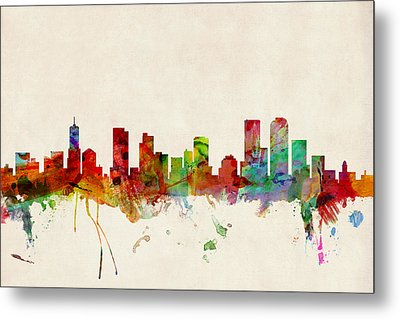 Denver Colorado Skyline Metal Print by Michael Tompsett