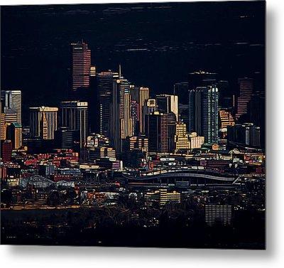 Denver Digital Art Metal Print by Ernie Echols