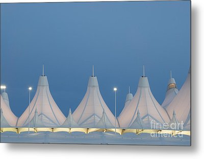 Denver International Airport At Dusk Metal Print