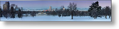 Metal Print featuring the photograph Denver Skyline From City Park by Kristal Kraft