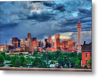 Metal Print featuring the photograph Denver Skyline by Teri D Brown