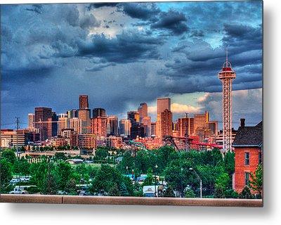 Denver Skyline Metal Print by Teri Brown