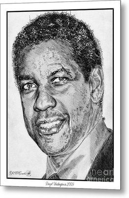Denzel Washington In 2009 Metal Print by J McCombie