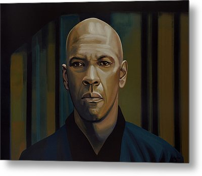 Denzel Washington In The Equalizer Painting Metal Print by Paul Meijering