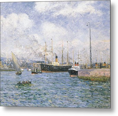 Departure From Havre Metal Print by Maxime Emile Louis Maufra