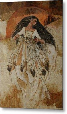 Departure Of White Buffalo Woman Metal Print