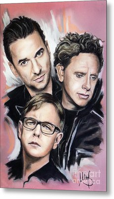 Depeche Mode Metal Print
