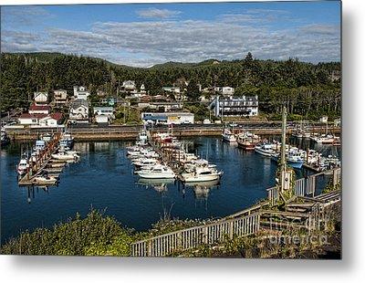 Depoe Bay Oregon Harbor Metal Print