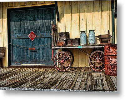 Metal Print featuring the photograph Depot Wagon by Kenny Francis
