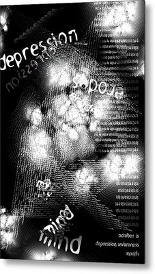 Depression Erodes My Mind Metal Print by Chuck Mountain