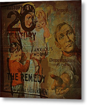 Depression In The 20th Century - 2 Metal Print by Jeff Burgess