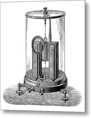 Deprez-d'arsonval Galvanometer Metal Print by Science Photo Library