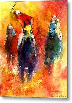 Derby Horse Race Racing Metal Print