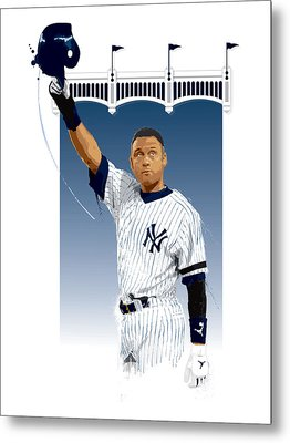 Derek Jeter 3000 Hits Metal Print by Scott Weigner