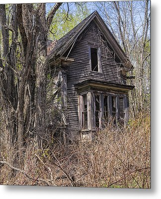 Metal Print featuring the photograph Derelict House by Marty Saccone