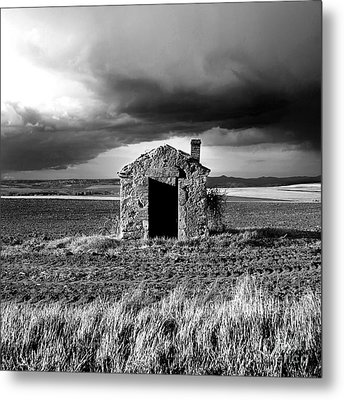 Derelict Stone Shed In  Auvergne. France Metal Print