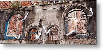 Derelict Wall Of Lost Limbs 02 Metal Print by Rick Piper Photography