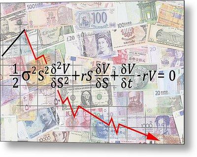 Derivatives Financial Debacle - Black Scholes Equation Metal Print