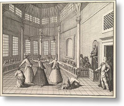 Dervishes Dancing Metal Print