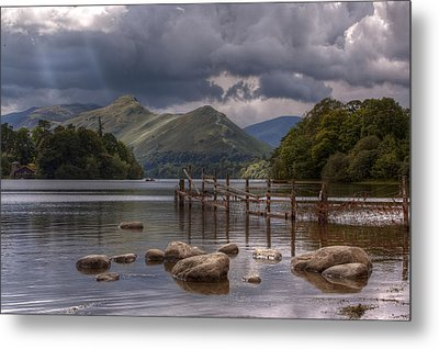 Derwent Water Towards Catsbells Metal Print