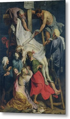 Descent From The Cross, 1617 Metal Print by Peter Paul Rubens