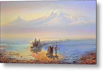 Descent Of Noah From Mountain Ararat Metal Print